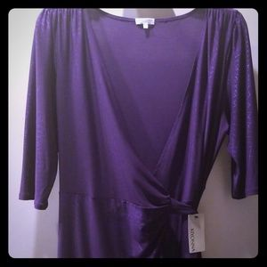 NWT Eggplant full wrap dress